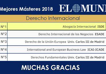 El Máster en Abogacía Internacional, líder en España